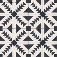 In Stock Cement Tile - Cement Tile Shop - Handmade Cement Tile   Tulum Pattern