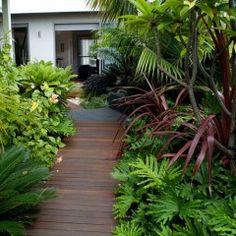 Garden path and gardens
