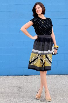 Jessica Quirk, DIY, Polka Dots, How to hem a skirt, Queen of Clubs, Digital DIY Clutch, DIY clutch, Style Blog, Style Blogs, Outfit Blog, What I Wore, WhatIWore, WIWT, What I Wore Today,