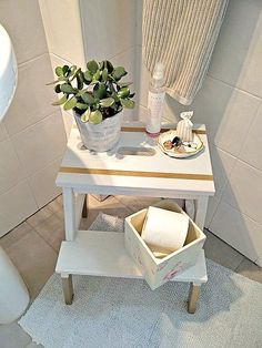 5 ways to use the Ikea Bekvam step stool - KreativK Living Room Stools, Living Room Decor, Diy Bathroom Decor, Diy Home Decor, Bathroom Designs, Bathroom Interior, Bathroom Ideas, Ikea Step Stool, Ikea Bekvam