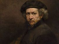 """2 minute video of Rembrandt's """"SELF-PORTRAIT,"""" 1659, REMBRANDT VAN RIJN   Great for class.   For CC Great Artists Cycle 2 Week 13"""