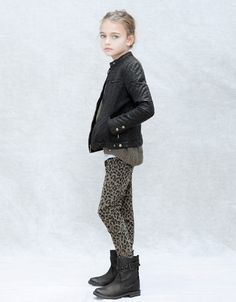QUILTED SYNTHETIC LEATHER JACKET ... in an alternate universe, this was me as a child.  Why can't I go there?!