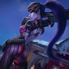 Widowmaker - Overwatch, Mirco Cabbia on ArtStation at https://www.artstation.com/artwork/LE4n5