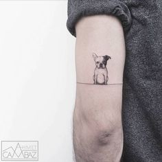 Artist Ahmet Cambaz creates sweet and simple tattoos inspired by illustration and cartoons.
