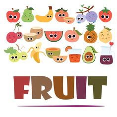 fruit; cartoon; fruits; funny; vector; illustration; isolated; character; orange; food; face; apple; icon; set; cute; green; pineapple; healthy; watermelon; banana; plum; white; fresh; strawberry; melon; pear; summer; fun; peach; drawing; diet; berry; vitamin; apricot; cherry; background