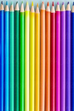 Colorful pencil background by Ruth Black - Colorful, Pencil - Stocksy United World Of Color, Color Of Life, Stock Imagery, Rainbow Aesthetic, Taste The Rainbow, Coloured Pencils, Kristina Webb, Spring Colors, Pattern Wallpaper