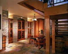 Wine Cellar-- Home designed by Vaught Frye Larson Architects from Fort Collins, Colorado.