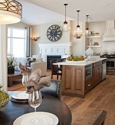 neutral kitchen/family room