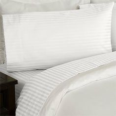 "Set of 2 Stripes White standard pillowcases 800 thread count 100% Egyptian Cotton by sheetsnthings by sheetsnthings. $27.99. Machine Wash And Dry. Amazing Comfort & Beautiful Quality. Set of 2 standard pillowcases 20x30 inches each 800TC Egyptian Cotton. Matching Sheet Sets Available in my other amazon listings. Royal Tradition Stripes Pillow cases * 800 Thread count *100% Egyptian cotton, Sateen Weave. *4"" Hemming with Piping * Solid Sateen Size: Queen/Standard Pair..."