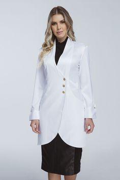 Doctor White Coat, Doctor Coat, Stylish Scrubs, Scrubs Outfit, Lab Coats, Batik Fashion, Medical Uniforms, Medical Scrubs, Evening Dresses