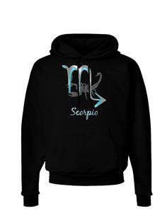TooLoud Scorpio Symbol Dark Hoodie Sweatshirt