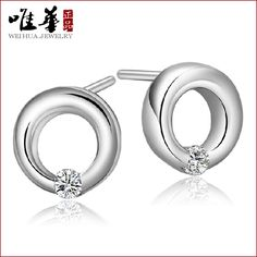 The only Korean version of circular charming lilac female  earrings earrings ear jewelry wholesale manufacturers