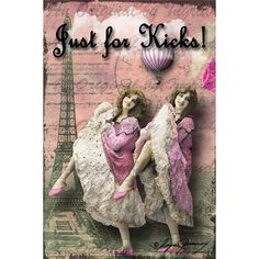 Just for Kicks! Digital Collage Greeting Card (Suitable for Framing) (26 PLN) ❤ liked on Polyvore featuring home, home decor and stationery