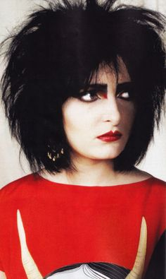 """Happy Birthday Siouxsie Sioux of Siouxsie and the Banshees and The Creatures!(Thanks for letting Chris Pfanner use """"Fireworks"""" for his part in Vans Propeller) Siouxsie Sioux, Siouxsie & The Banshees, 80s Goth, Punk Goth, Billie Holiday, Women Of Rock, Gothic Rock, Ice Queen, Post Punk"""
