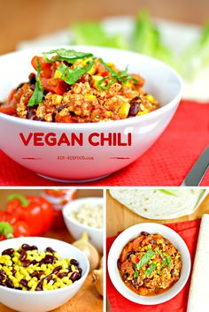 Vegan Chili | WIN-WINFOOD.com Hearty and filled with warming spices, vegan chili is the go-to comfort food you won't be able to  get enough of. #glutenfree #vegan #cleaneating