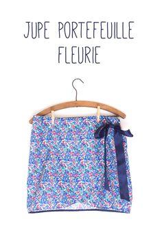 Jupe portefeuille - Atelier Charlotte Auzou - Coton à fleurs des coupons de Saint-Pierre