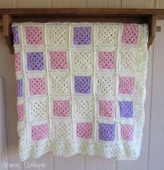 Handmade Crochet Afghan Blanket  By Gramas Cottage