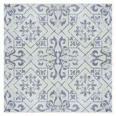 """EliteTile Lotus 17.75"""" x 17.75"""" Ceramic Field Tile in Blue & Reviews   Wayfair"""