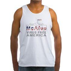 McAfee - Virus Free America Tank Top