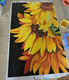 Aliexpress.com : Buy Bisazza Sunflower Ice Jade Glass Mural Art mosaic tile_ home decoration bathroom kitchen backsplash entrance wall  tile from Reliable tile suppliers on Muse & Design Mosaic  | Alibaba Group