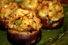 Deep South Dish: Crab Stuffed Mushrooms ... (she has THE BEST recipes! have not found one yet that is bad!!)