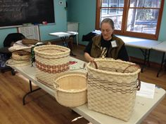 Basketry Class at John C. Great students and lots of fun! Basket Weaving, Baskets, Folk, Students, Boxes, Crafty, Patterns, School, Hampers