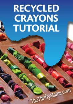 Learn how to recycle old and broken crayons into new ones with this quick and easy tutorial. | kid craft