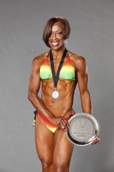 Ruby Carter-Pikes, Great-Grandmother, Shows Off Age-Defying Fitness Competition Body. Fit Black Women, Fit Women, Fitness Goals, Fitness Motivation, Fitness Diet, Physique, Divas, Fit Over 40, Ageless Beauty