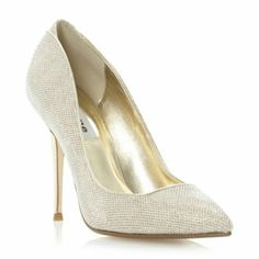 Dune London Metallic Ballroom - Lurex Metallic Heel Stiletto Court Shoe