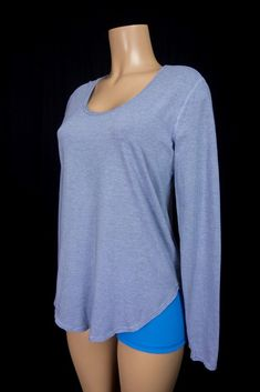 LULULEMON Yogini 5 Year Long Sleeve Tee 10 M Wee Stripe Cool Breeze Grayvy Top #Lululemon #ShirtsTops
