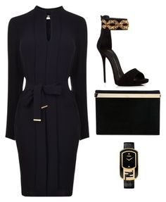 Black and yellow 2 by thewoomensol on Polyvore featuring polyvore fashion style BOSS Black Giuseppe Zanotti Charlotte Olympia Fendi clothing