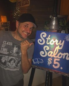 """Shared for the first time at #StorySalon tonight! I told a brand new story called """"Cheese"""". #StoryTeller"""