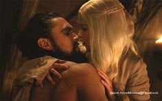 Game of Thrones gif Jason Momoa & Emilia Clarke- Khal Drogo & Daenerys