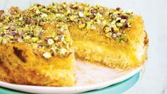 This cheesecake recipe was inspired by new and old flavors and our love of baklava and cheesecake. Summer Desserts, No Bake Desserts, Dessert Recipes, Pastry Recipes, Cooking Recipes, Bread Recipes, Cheescake Recipe, Baklava Cheesecake, Israeli Food