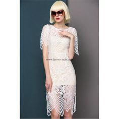 Herve Leger White Long Two Pieces Sexy Dress MX219W