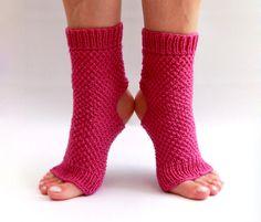 hand knit toe less / pedicure / yoga socks by HappyLaika on Etsy, £25.00