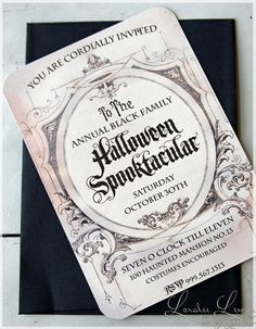 Invitation . Haunted Mansion Collection . by Loralee Lewis for $34.00 at etsy.com