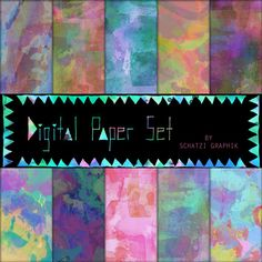 WATERCOLOR PAPER summernights Hand painted by SchatziGraphik, $4.50