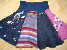 Upcycled girls sweater Twirly Skirt from TWINKLE by twinklewear, $40.00