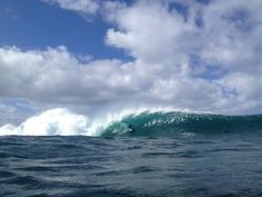 Pipeline on the North Shore of Oahu.  This is definitely the best place on Oahu (in my opinion)!