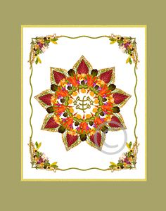 An illumination of 'The Greatest Name' within a 9 pointed star, symbol of the Baha'i Faith.