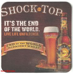 Beer Coasters, End Of The World, Live Life, Quote Life