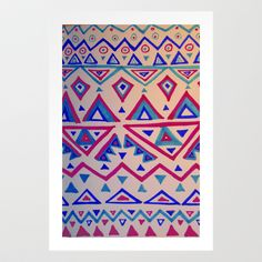 January Triangles Art Print by Jennifer OBrien - $18.00