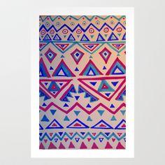 January Triangles Art Print by Jennifer OBrien - $18.00