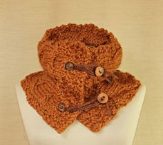 Catch Me If You Can / Unisex Mustard Brown Cowl Scarf by lilithist, $80.00