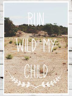 Run Wild my Child  A3 Travel Boho Navajo Aztec by AlphaTribePrints, £14.00