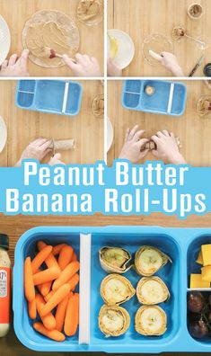 Peanut Butter Banana Roll-Ups Banana Roll, Roll Ups, Peanut Butter Banana, Lunch Time, Protein, Fat, Vegetables, Healthy, Recipes