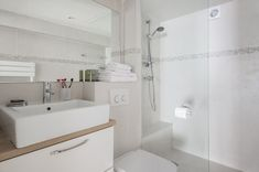 Marais designer 1BR, close to everything, up to 4 guest - Saint-Gervais Paris Airbnb, Iron Board, King Bedroom, Under Stairs, Exterior Lighting, Walk In Shower, Washer And Dryer, Second Floor, Basin