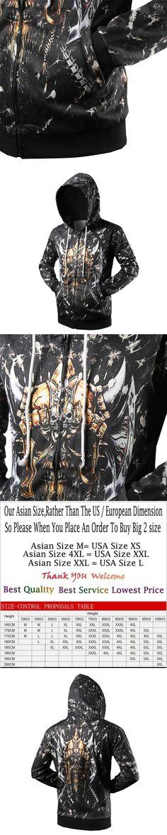 Fashion Skull Hoodies Men 3d Print Painting Sweatshirt Designer Men's Zipper Sweatshirts Crewneck Men's Harajuku Hoody