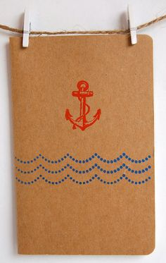 Nautical Notebooks with Mermaid Anchor and Starfish by ArtisanPost, $8.00